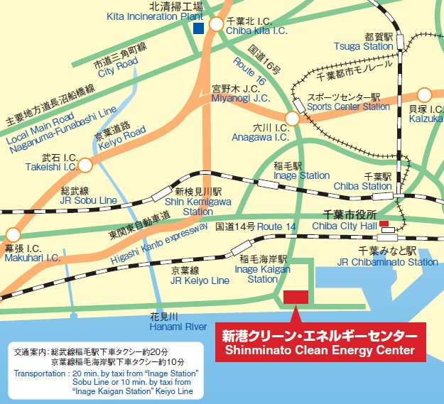 GuideMapToShinminatoCleanEnergyCenter